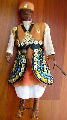 Vintage Antique Maroccan Doll Folk Art Hand Made Water Seller