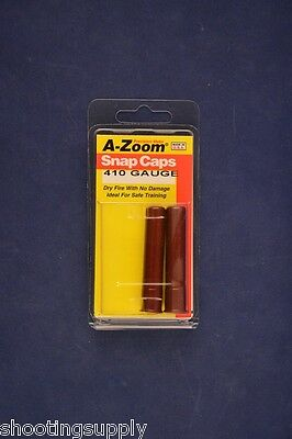 A-Zoom Snap Caps for 410 Shotgun azoom 2-pack NEW Judge Governor 12215