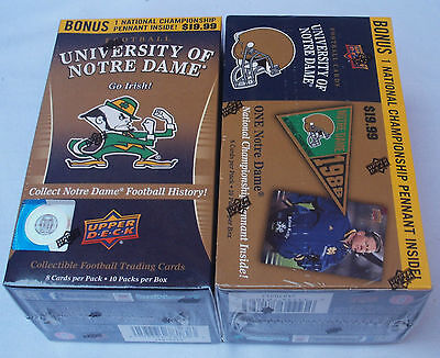 Upper Deck 2013 Football University Of Notre Dame Lot Of 2 Trading Card Box New