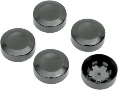 "Rear 7/16"" Pulley Hex Bolt Cover Black by Drag Specialties for Harley Davidson"