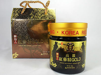 """ Best "" 6years Korean  Red Ginseng Gold Extract 100% 500g (17.63oz) *PANAX*-NEW"