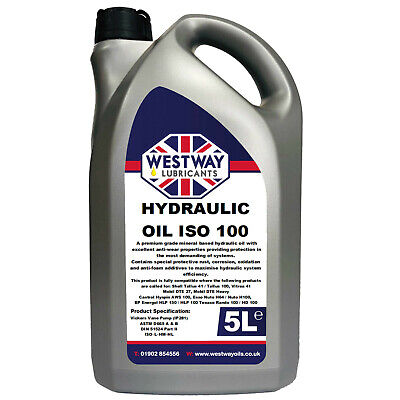 Hydraulic Oil ISO 100 Compatible with Shell Tellus 41 5 Litres