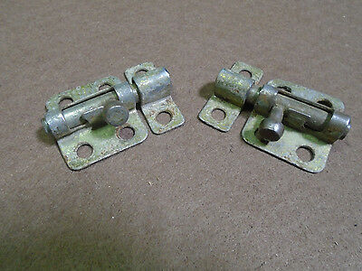 "Two Vintage Brass Washed Barrell Cabinet Locks - 2 1/8""  (1400-K)"