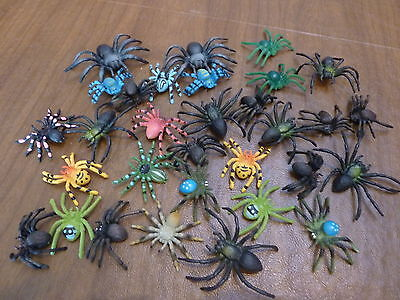 Lot of 31 Plastic Toy Spiders Insects Party Favors