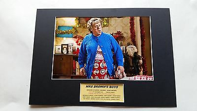 Brendan O'carroll Mrs Brown's Boys Mammy Signed A3 Mounted Photo Display - Proof