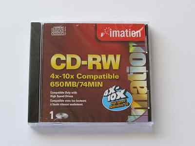 Imation High Speed Cd-Rw Rewritable Media 650 Mb 74 Min 4X10