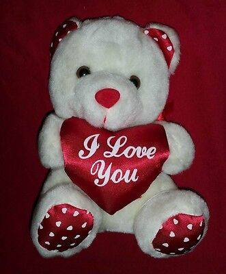 A Cute  And Soft Teddy Bear For  Valentines Day I Love You Heart Bear