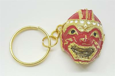 Hanuman Monkey Khon Thai Mask Keyring Key Chain Craft Asian Souvenir Decorate