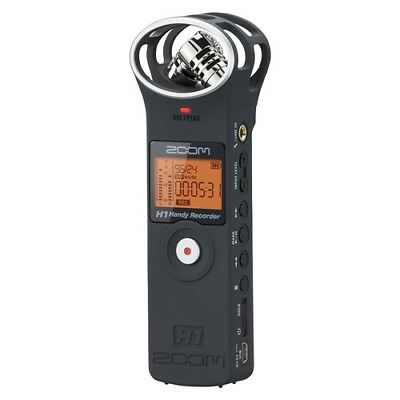 NEW ZOOM H1/MB Ver.2 Handy Recorder MATTE BLACK linear PCM recorder 2GB SD card