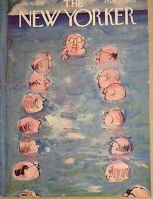 COVER ONLY ~The New Yorker magazine ~July 10, 1965 ~ FRANCOIS ~ Ocean meeting