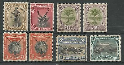 North Borneo 1894 Selection Of 8 Mint Or Unused Cat £138