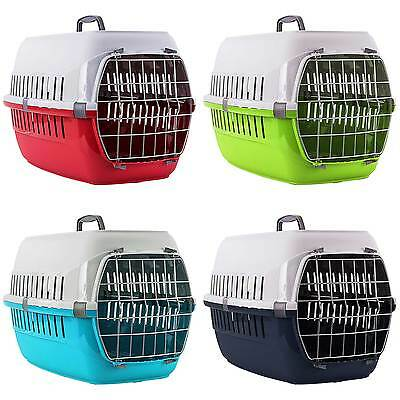 Cat Carrier Transport Box Travel Cage Foldable Crate Portable Plastic
