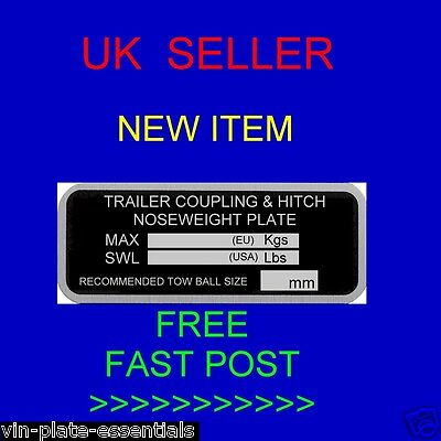 Plant Trailer Chassis Nose Weight Hitch Knott Alko Coupling Vin-Plate-Essentials