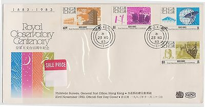 (OK-121) 1983 Hong Kong FDC 4set stamps Royal observatory centenary