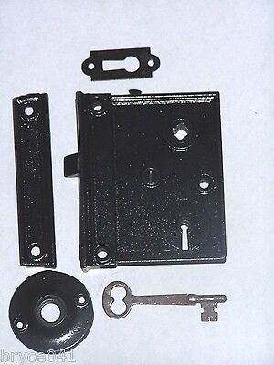 Antique Rim Lock Set With Original Key