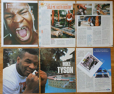 MIKE TYSON spanish clippings 1990s/00s photos magazines boxing pictures