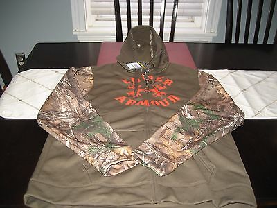 MENS Under Armour COLDGEAR REALTREE CAMO HUNT HOODIE L LARGE   NWT