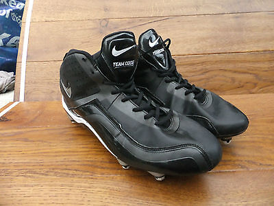 Nike ZoomTeam Code D Mens Black Cleats Baseball Boots Size 12 / 47.5