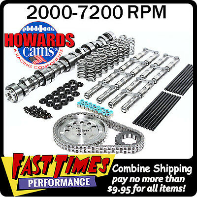 """HOWARD'S GM Chevy LS 281/284 578""""/587"""" 112° Cam Camshaft Kit w/Link-Bar Lifters"""