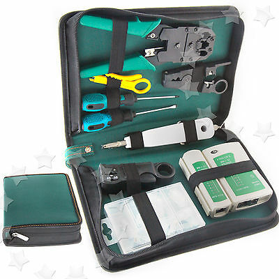 RJ45 RJ11 Cable Hand Tool Crimper Network Tool Kit Punch Down Impact Tool