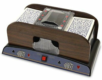 Brybelly Two Deck Wooden Automatic Card Shuffler 609207893356 1-2 deck wooden