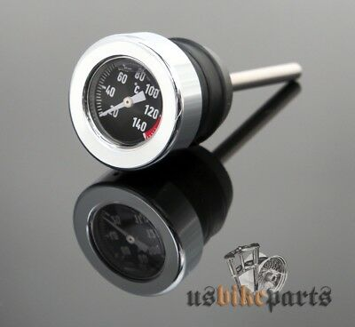 Oil Temperature Dip Stick (Black Face) for Twin Cam Softail