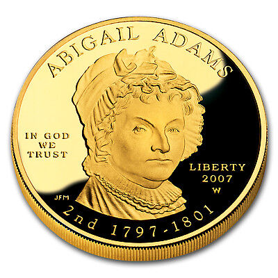 2007-W 1/2 oz Proof Gold Abigail Adams (w/Box & COA) - SKU #29132