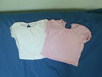 Baby Girls 6-9 Months - Two T-Shirts - Pink & White - Cherokee