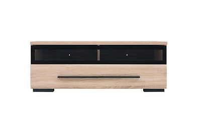 TV Cabinet TV Unit Entertainment Stand Glass Drawer 100 cm Sonoma Oak Fever