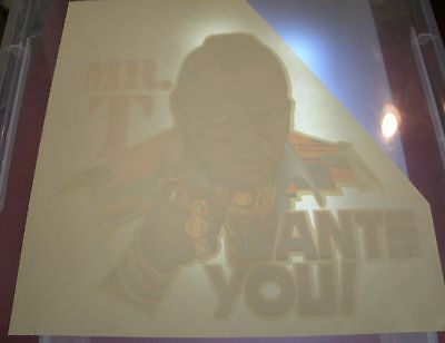 Vintage Mr. T Wants You T-Shirt Iron On Transfer