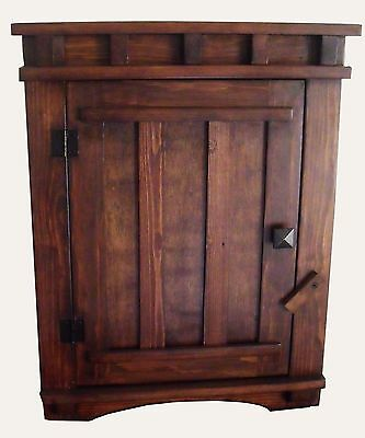 Arts and Crafts Mission Apothecary Wood Wall Hanging Cabinet