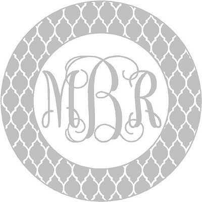 Personalized Nautical Rope Circle Monogram Vinyl Decal Sticker Car Tablet