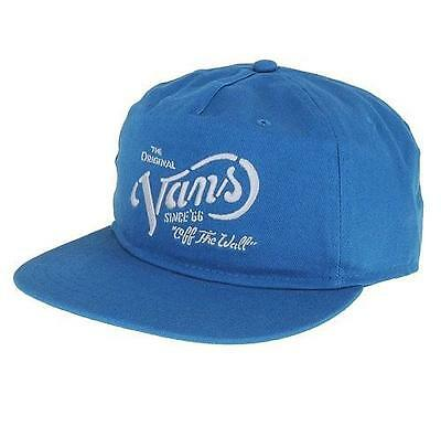 ba9dd137 Vans Off The Wall Wythe Mens Unstructured Teal Blue Snapback Hat Cap New NWT