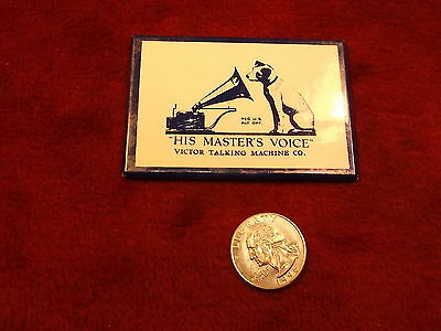 """#2, Vtg Rca Advertising Mirror """"his Master's Voice, Victor Talking Machine Co"""""""