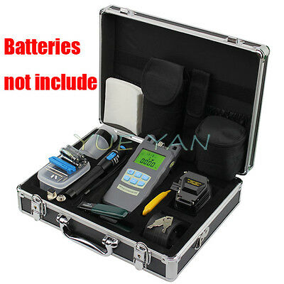 10pcs/set Fiber Optic FTTH Tool Kit SKL-6C Fiber Cleaver Optical Power Meter VFL