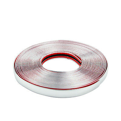 20MM x 15M Chrome Car Meter Window Styling Moulding Strip Trim Self-Adhesive