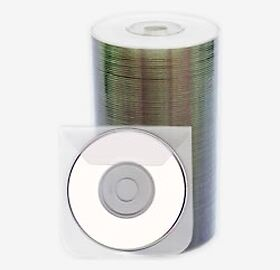 INTACT Mini DVD-R 1.4GB Whitetop Printable 50pcs Spindle with Sleeves BMDINT1.4G