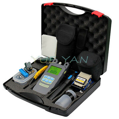 10pcs/set Plastic box Fiber Optic FTTH Tool Kit FC-6S Fiber Cleaver Power Meter