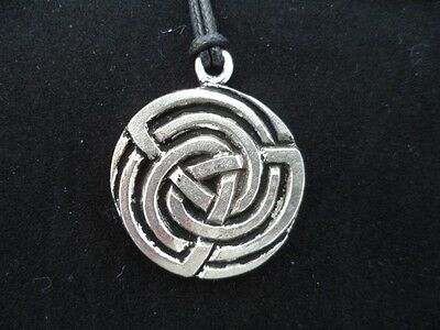 Pictish Meigle Triskele Knot Pewter Pendant. Celtic, Viking