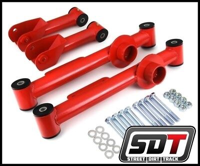 SDT Ford Mustang Full Set 4 Piece Rear Control Arms Kit Red
