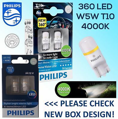 Philips Xtreme Vision 360 Led T10 501 W5W Car Bulbs 4000K
