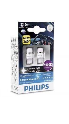 Philips Xtreme Vision 360 Led T10 501 W5W Car Bulbs 6000K