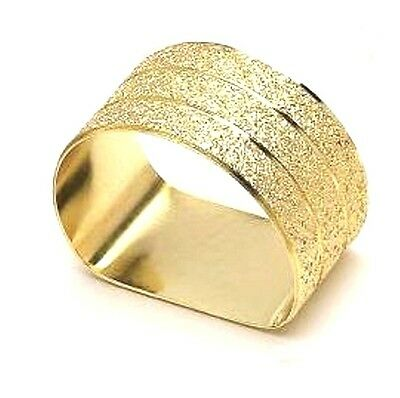Gold Textured Napkin Rings - Sold Individually