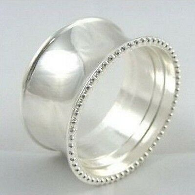 Classic Silver Ring Napkin Rings, Sets of Four, Six or Eight