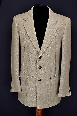 "Vintage Norfolk SHOOTING JACKET 40"" Short Dunn & Co 1970's Herringbone"