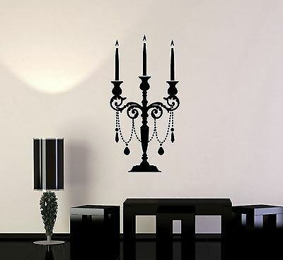 Vinyl Wall Decal Candlestick Vintage Candle Room Decoration Murals (ig3633)