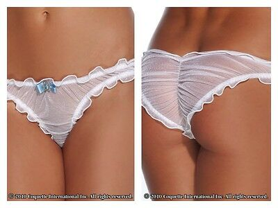 Bridal Panty, Coquette, 8-14, CQ-1056, Sexy, White, Satin Bow, Wedding, Bride