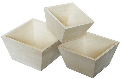 Craft Wood/Craftwood Square Planter - Creative Exercises/Decorating/Packaging