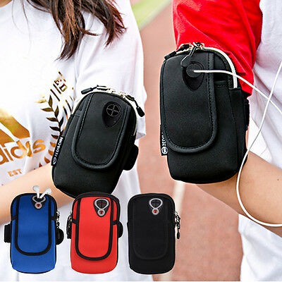 Sports GYM Zipper Armband Running Jogging Arm Band Holder for iPhone 6/6s/7 Plus