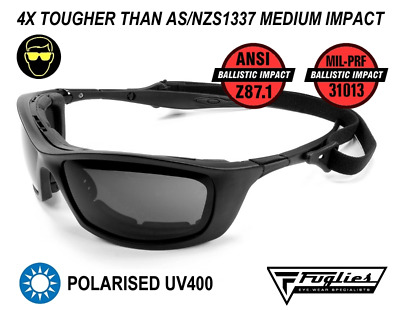 Fuglies ADF4 Polarised Safety Glasses - ANSI Z87.1 Ballistic Rated